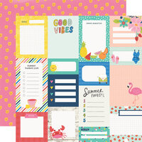 Simple Stories - Sunkissed Collection - 12 x 12 Double Sided Paper - Journal Elements