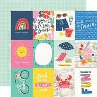 Simple Stories - Sunkissed Collection - 12 x 12 Double Sided Paper - 3 x 4 Elements