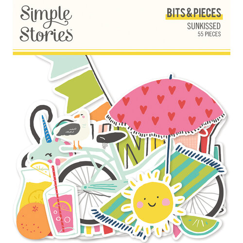 Simple Stories - Sunkissed Collection - Ephemera - Bits and Pieces