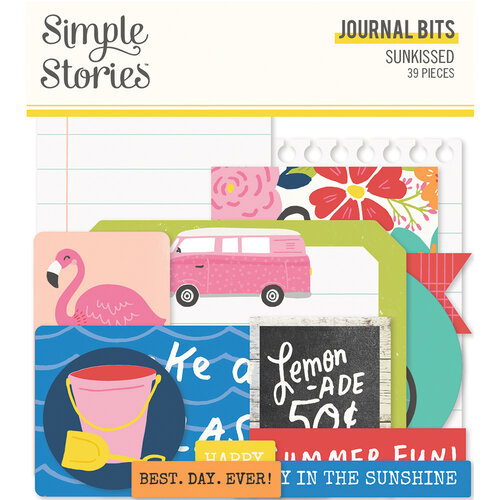 Simple Stories - Sunkissed Collection - Ephemera - Journal Bits