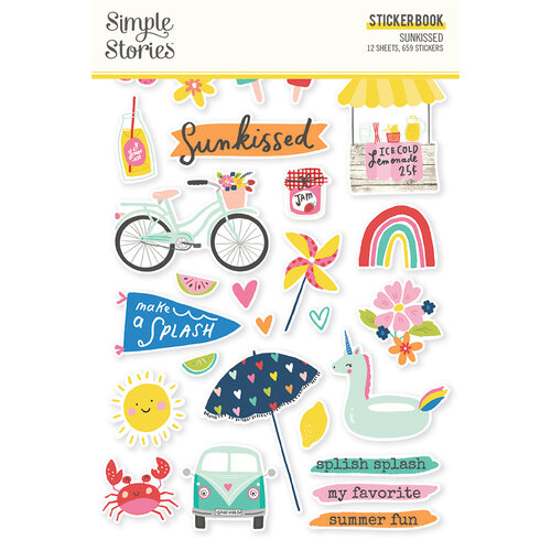 Simple Stories - Sunkissed Collection - Sticker Book
