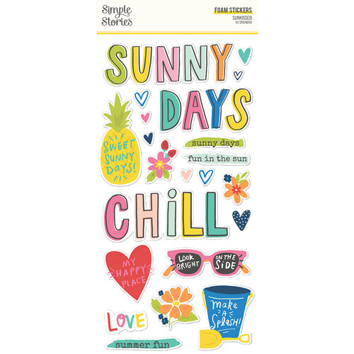 Simple Stories - Sunkissed Collection - Foam Stickers