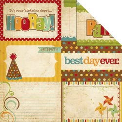 Simple Stories - Happy Day Collection - 12 x 12 Double Sided Paper - Journaling Card Elements 2