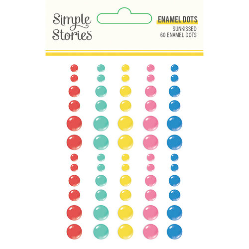 Simple Stories - Sunkissed Collection - Enamel Dots