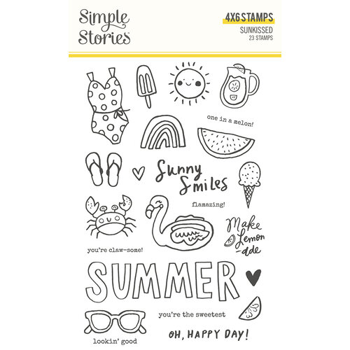 Simple Stories - Sunkissed Collection - Clear Photopolymer Stamps