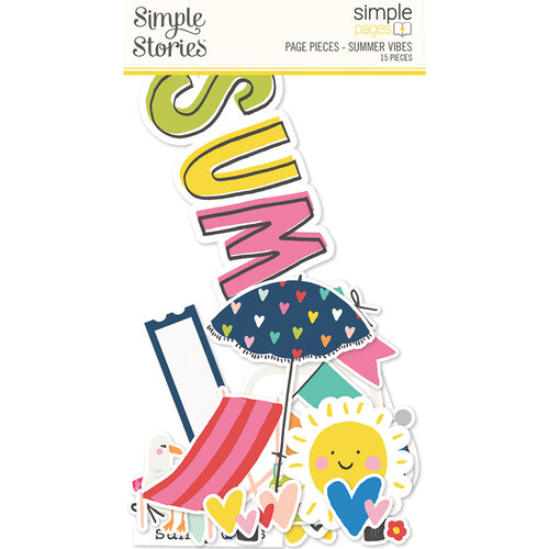 Simple Stories - Simple Pages Collection - Page Pieces - Summer Vibes