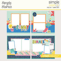 Simple Stories - Simple Pages Collection - Page Kit - Sunny Days