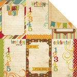 Memory Works - Simple Stories - Happy Day Collection - 12 x 12 Double Sided Paper - Vertical Journaling Card Elements