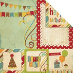 Simple Stories - Happy Day Collection - 12 x 12 Double Sided Paper - Quote and Photo Mat Elements