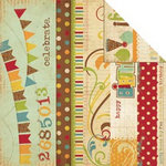 Memory Works - Simple Stories - Happy Day Collection - 12 x 12 Double Sided Paper - Border and Title Strip Elements