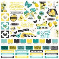 Simple Stories - Simple Vintage Lemon Twist Collection - 12 x 12 Cardstock Stickers