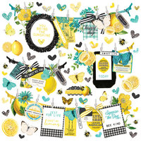 Simple Stories - Simple Vintage Lemon Twist Collection - 12 x 12 Cardstock Stickers - Banners
