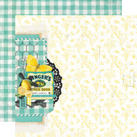Simple Stories - Simple Vintage Lemon Twist Collection - 12 x 12 Double Sided Paper - Sweet Life