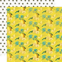 Simple Stories - Simple Vintage Lemon Twist Collection - 12 x 12 Double Sided Paper - Squeeze The Day