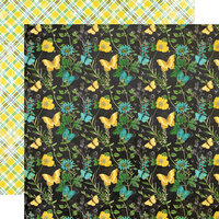 Simple Stories - Simple Vintage Lemon Twist Collection - 12 x 12 Double Sided Paper - Happy Thoughts