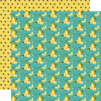 Simple Stories - Simple Vintage Lemon Twist Collection - 12 x 12 Double Sided Paper - Bee Happy