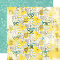 Simple Stories - Simple Vintage Lemon Twist Collection - 12 x 12 Double Sided Paper - Easy Peasy