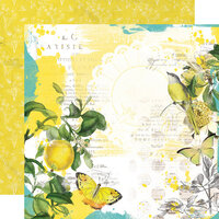 Simple Stories - Simple Vintage Lemon Twist Collection - 12 x 12 Double Sided Paper - Sunshine and Lemonade