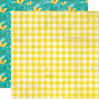 Simple Stories - Simple Vintage Lemon Twist Collection - 12 x 12 Double Sided Paper - Fresh Squeezed