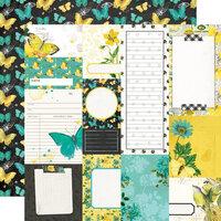 Simple Stories - Simple Vintage Lemon Twist Collection - 12 x 12 Double Sided Paper - Journal Elements