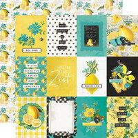 Simple Stories - Simple Vintage Lemon Twist Collection - 12 x 12 Double Sided Paper - 3 x 4 Elements