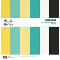 Simple Stories - Simple Vintage Lemon Twist Collection - 12 x 12 Basics Kit