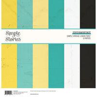 Simple Stories - Simple Vintage Lemon Twist Collection - 12 x 12 Basics Kit