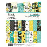 Simple Stories - Simple Vintage Lemon Twist Collection - 6 x 8 Paper Pad