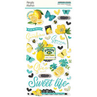 Simple Stories - Simple Vintage Lemon Twist Collection - 6 x 12 Chipboard Stickers