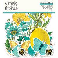 Simple Stories - Simple Vintage Lemon Twist Collection - Floral Bits and Pieces
