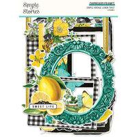 Simple Stories - Simple Vintage Lemon Twist Collection - Chipboard Frames