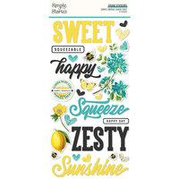 Simple Stories - Simple Vintage Lemon Twist Collection - Foam Stickers