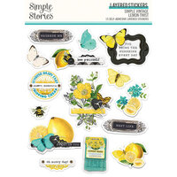 Simple Stories - Simple Vintage Lemon Twist Collection - Layered Stickers