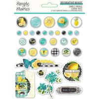 Simple Stories - Simple Vintage Lemon Twist Collection - Decorative Brads