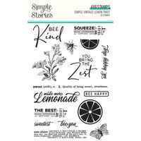 Simple Stories - Simple Vintage Lemon Twist Collection - Clear Photopolymer Stamps