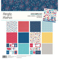 Simple Stories - Stars, Stripes and Sparklers Collection - 12 x 12 Collection Kit