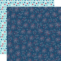 Simple Stories - Stars, Stripes and Sparklers Collection - 12 x 12 Double Sided Paper - Having A Blast