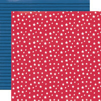 Simple Stories - Stars, Stripes and Sparklers Collection - 12 x 12 Double Sided Paper - Stars and Stripes