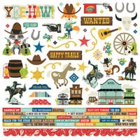 Simple Stories - Howdy! Collection - 12 x 12 Cardstock Stickers