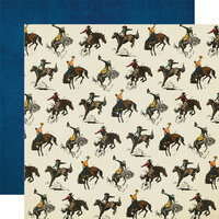 Simple Stories - Howdy! Collection - 12 x 12 Double Sided Paper - Let's Ride