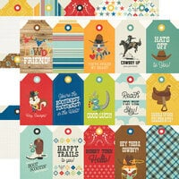 Simple Stories - Howdy! Collection - 12 x 12 Double Sided Paper - Tags