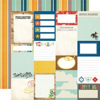 Simple Stories - Howdy! Collection - 12 x 12 Double Sided Paper - Journal Elements