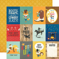 Simple Stories - Howdy! Collection - 12 x 12 Double Sided Paper - 3 x 4 Elements