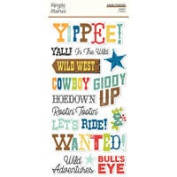 Simple Stories - Howdy! Collection - Foam Stickers