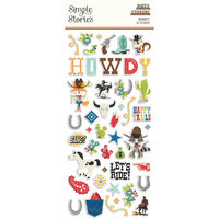 Simple Stories - Howdy! Collection - Puffy Stickers