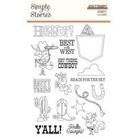 Simple Stories - Howdy! Collection - Clear Photopolymer Stamps