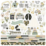 Simple Stories - Happily Ever After Collection - 12 x 12 Cardstock Sticker Sheet