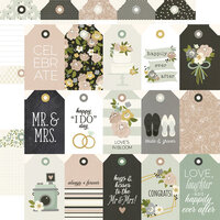 Simple Stories - Happily Ever After Collection - 12 x 12 Double Sided Paper - Tags