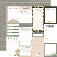 Simple Stories - Happily Ever After Collection - 12 x 12 Double Sided Paper - Journal Elements