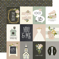 Simple Stories - Happily Ever After Collection - 12 x 12 Double Sided Paper - 3 x 4 Elements
